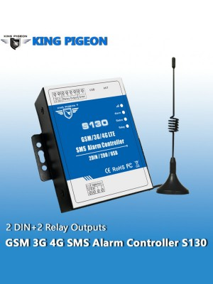 GSM S130 3G 4G SMS Remote Controller Alarm (2DIN+2DO+USB)