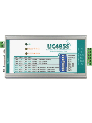 UC485S : μετατροπέας γραμμής RS232 σε RS485/RS422 με isolation
