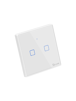 Sonoff T2 TX 2 Gang Wi-Fi Smart Wall Touch Switch