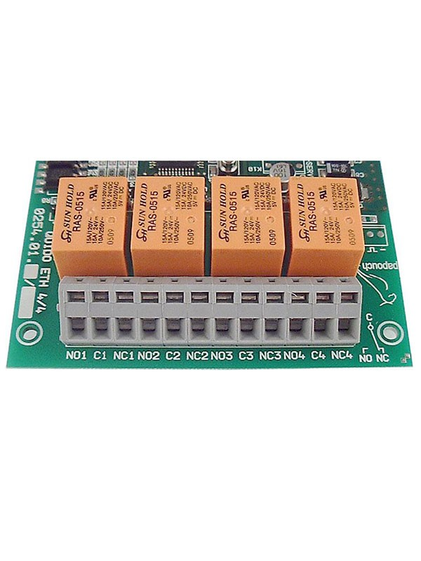 Make-brake contacts of output relays in QuidoDuplex