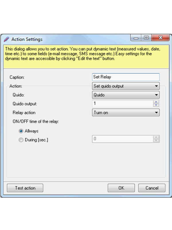 Wix - Action settings